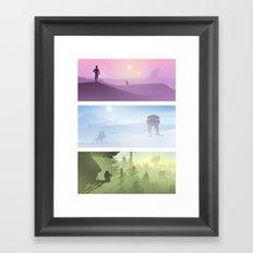 Planetscape Trilogy Framed Art Print