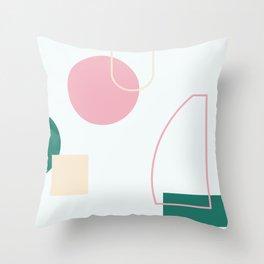 Strange feeling - on white background Throw Pillow