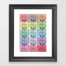 Pixel Geek Framed Art Print