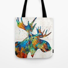 Colorful Moose Art - Confetti - By Sharon Cummings Tote Bag