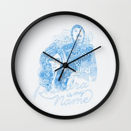Phaedra is My Name - Cobalt Wall Clock