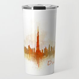 Dubai, emirates, City Cityscape Skyline watercolor art v3 Travel Mug