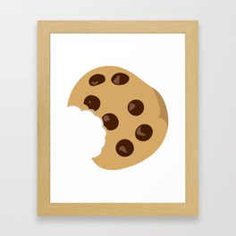 Yummy Chocolate Chip Cookie Framed Art Print