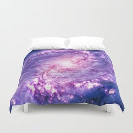 Cosmic vacuum cleaner (Spiral Galaxy M83) Duvet Cover