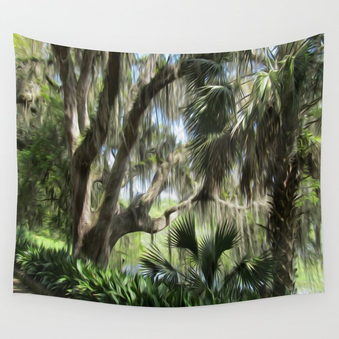 Another Side to Florida Wall Tapestry