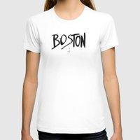 boston T-shirts featuring Boston by Talula Christian