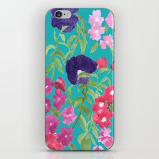 Blue Floral Print iPhone & iPod Skin