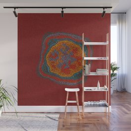 Growing - Lamium - plant cell embroidery Wall Mural