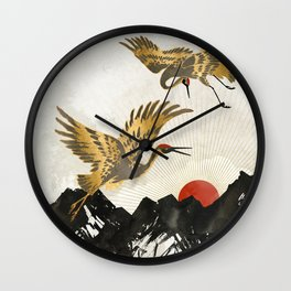 Elegant Flight II Wall Clock
