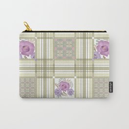 Olive green cage and roses. Carry-All Pouch