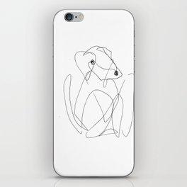He was a very creative dog iPhone Skin