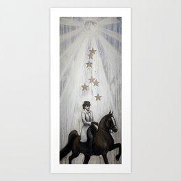 Riding Moonbeams Art Print