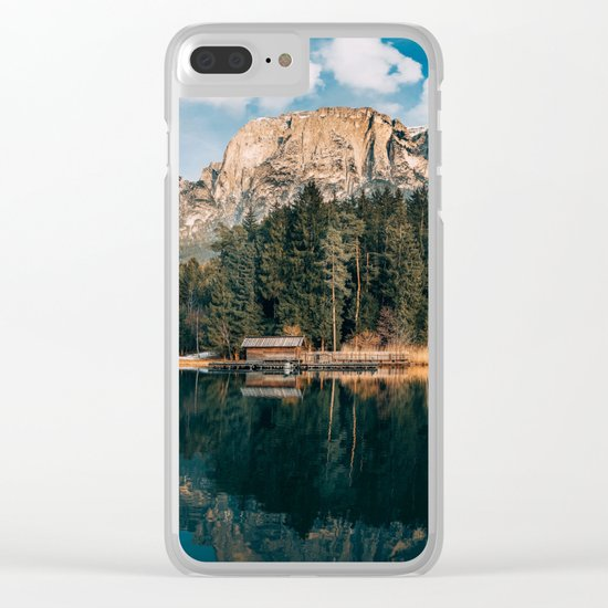 wanderlust landscape Clear iPhone Case