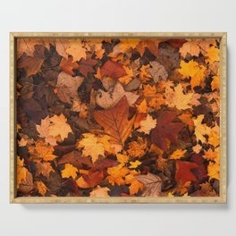 Autumn Fall Leaves Serving Tray