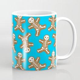 Skeleton Gingerbread Man Pattern Coffee Mug