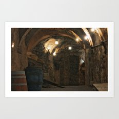In the wine caves Art Print