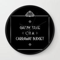 gatsby Wall Clocks featuring Gatsby Style by jewelwing