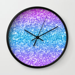 Colorful glam glitter and sparkles Wall Clock
