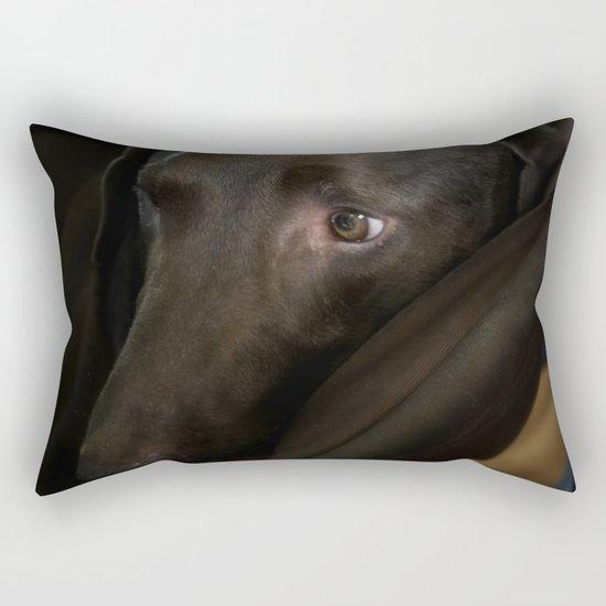 My Friend Chocolate Lab Rectangular Pillow