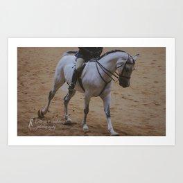 Cantering Grey Horse Art Print
