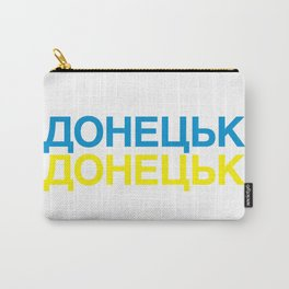 DONETSK Ukrainian Flag Carry-All Pouch