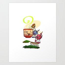 Tea Helpers - Bountiful Harvest! Art Print