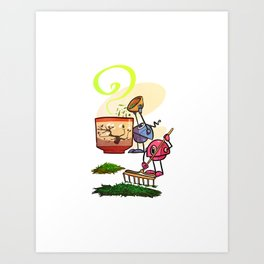 Tea Helpers - Bountiful Harvest! Art Print
