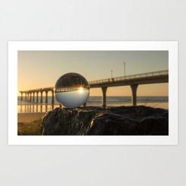 Crystal Ball / New Brighton State Beach Art Print