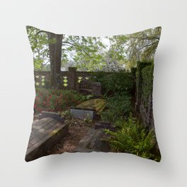 Old Graves Throw Pillow