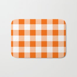 Orange Check Bath Mat