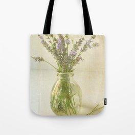 Lavender and Milk Tote Bag
