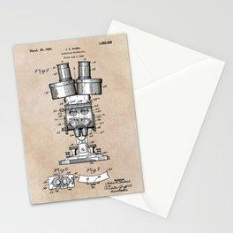 patent art Sabel Binocular Microscope 1926 Stationery Cards
