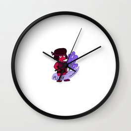 Ruby Larkspurs Wall Clock