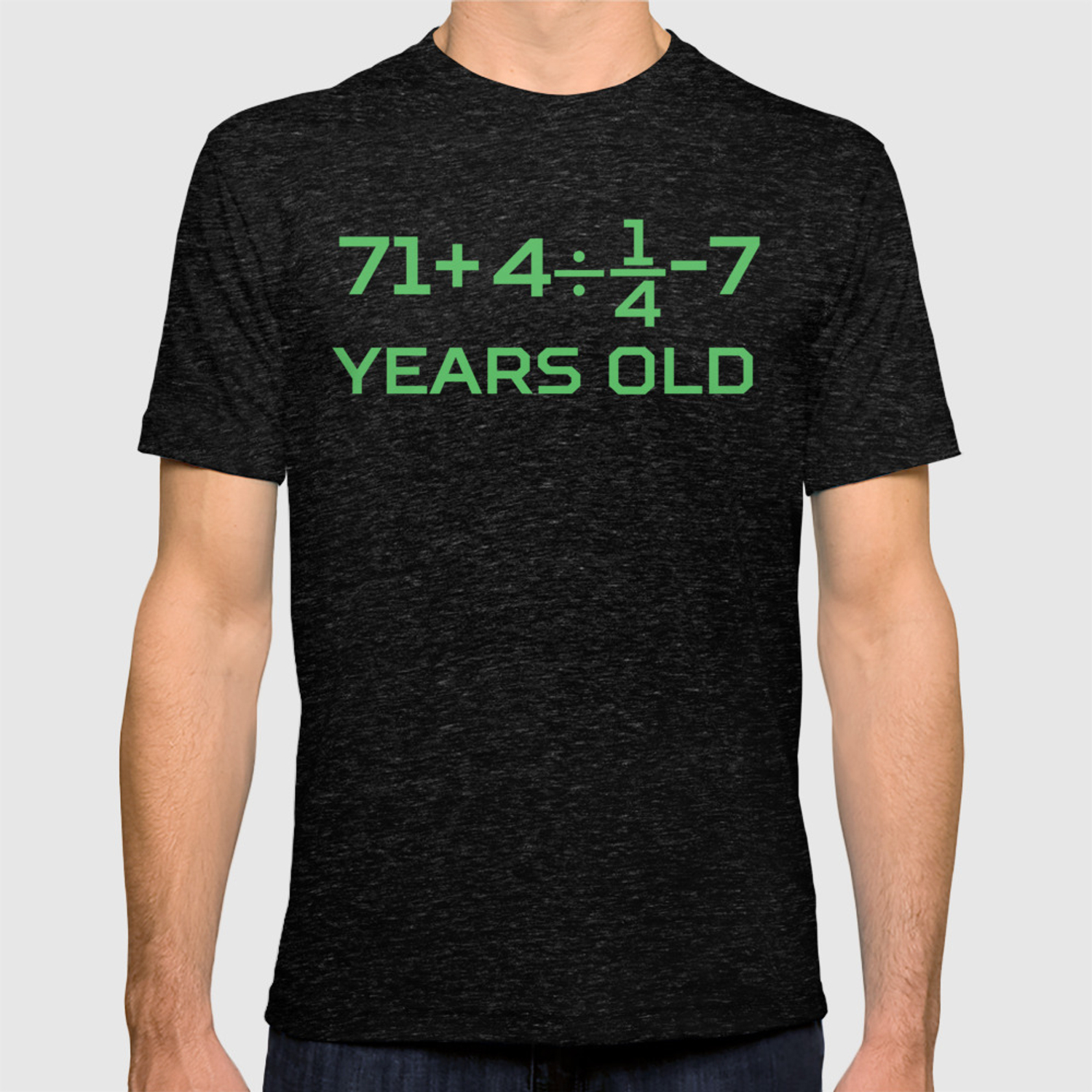 80 Years Old Math Equation Funny 80th Birthday T Shirt