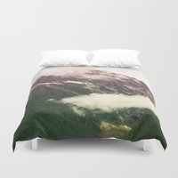 the mountains are calling Duvet Covers featuring The Mountains Are Calling by Noonday Design