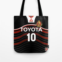 2001 Tote Bags featuring Nagoya 2001 by Thomas Fiers