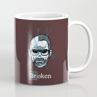 broken Mugs featuring Broken by Mike Handy Art