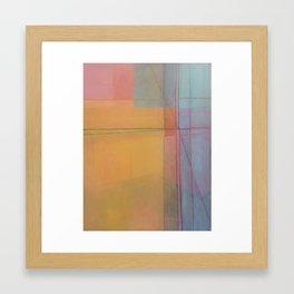 Warm Yellow Framed Art Print