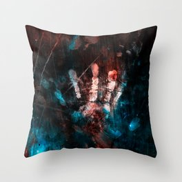 Cosmic Grunge Imprints Throw Pillow