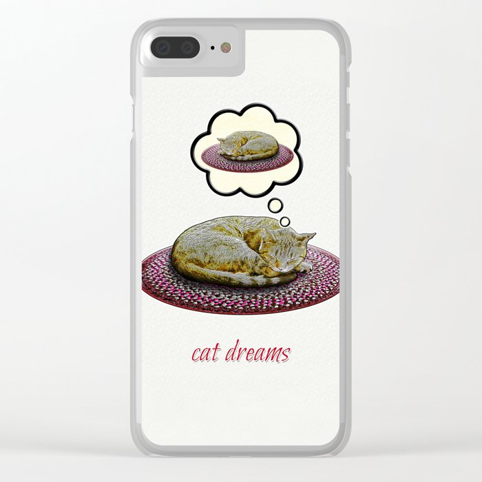 Cat Dreams Clear iPhone Case