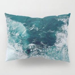 Ocean Waves (Teal) Pillow Sham