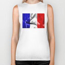 France Flag Biker Tank