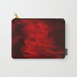 Red Abstract Paint Carry-All Pouch