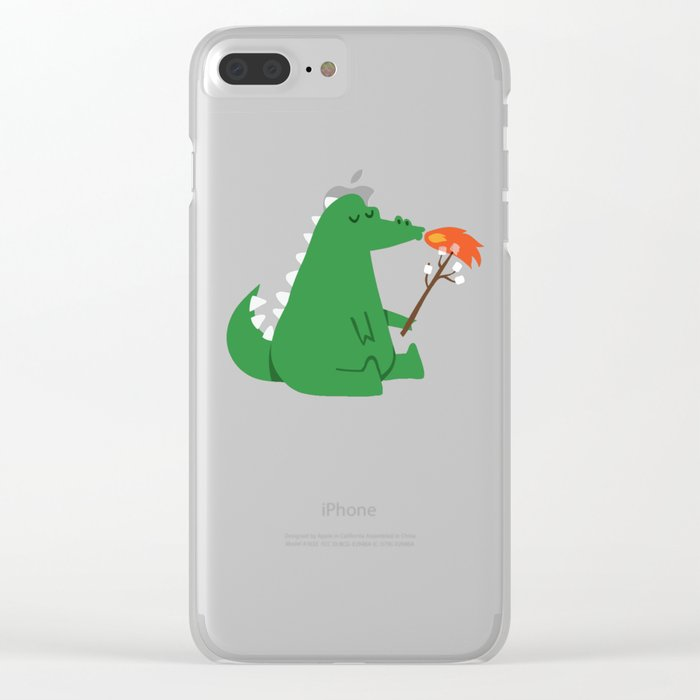 Dragon and Marshmallow Clear iPhone Case