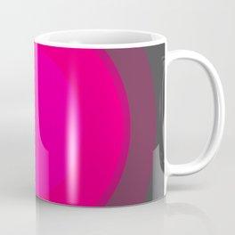 Hot Pink & Gray Focal Point Coffee Mug