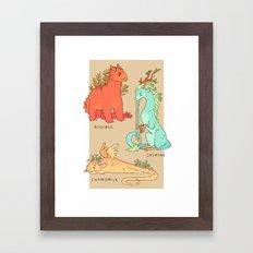 Common Tea Dragons Framed Art Print