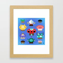 Mushroom Village Framed Art Print