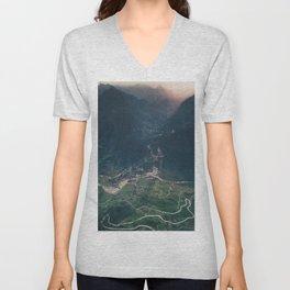 Mountainous town, Sa Pa, Vietnam Unisex V-Neck