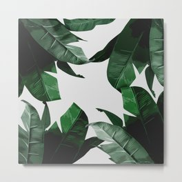 Banana Palm Leaves Metal Print