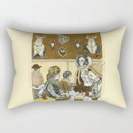 Taxidermy Cafe Rectangular Pillow